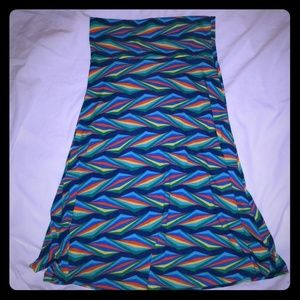 LuLaRoe below the knee maxi skirt size xs